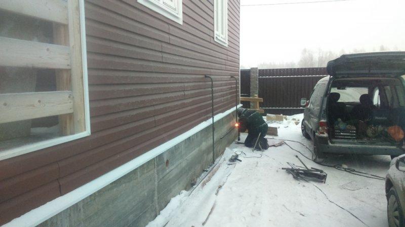 Монтируем наружний газопровод  в Раменском районе