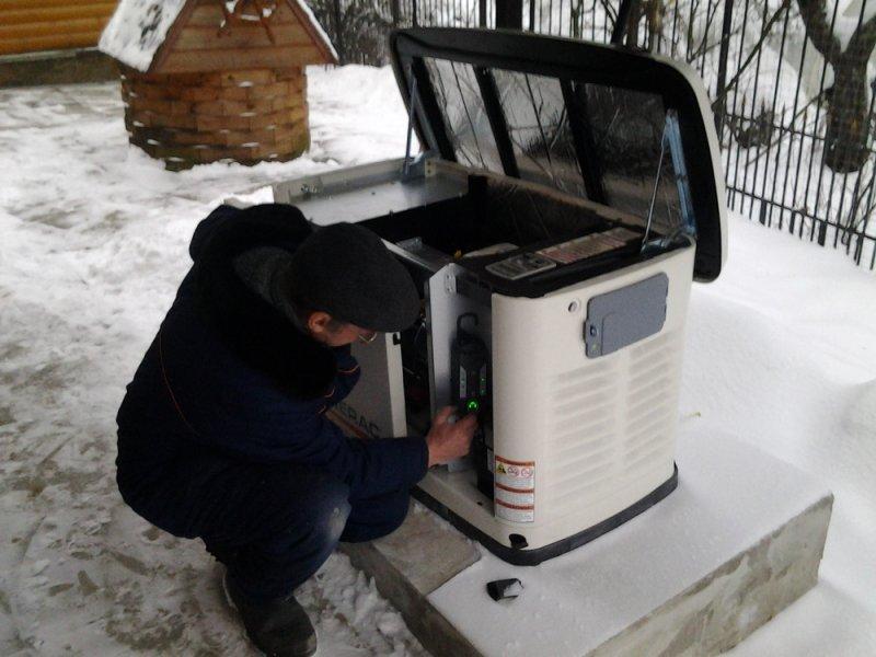 Монтаж газового генератора Generac
