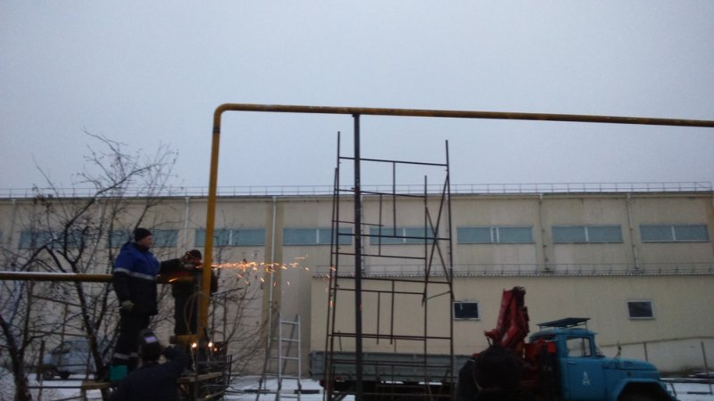 Строительство газопровода низкого давления