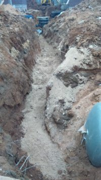 Засыпка газовой трубы песком